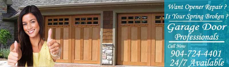 Broken Garage Door Springs Repair And Replacement Jacksonville Florida
